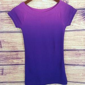 Lauren Ralph Lauren purple ombre boatneck tee